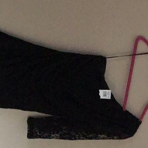 Express woman's black lace dress